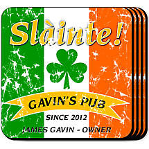 Personalized Irish Coaster Set - Pride of the Irish