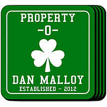 Personalized Irish Coaster Set - Property O