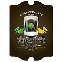 Personalized Vintage Irish Pub Sign