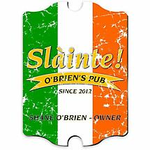 Personalized Vintage Pride of the Irish Pub Sign