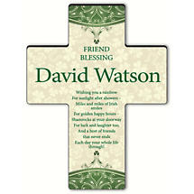 Personalized Classic Irish Cross - Irish Friend Blessing