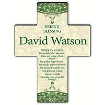 Personalized Classic Irish Cross - Irish Friend Blessing