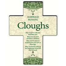 Personalized Classic Irish Cross - Irish Marriage Blessing