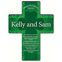 Personalized Irish Blessing Shamrock Cross - Irish Friend Blessing