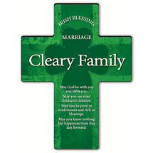 Personalized Irish Blessing Shamrock Cross - Irish Marriage Blessing