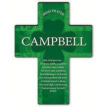 Personalized Irish Blessing Shamrock Cross - An Irish Prayer