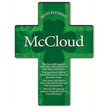 Personalized Irish Blessing Shamrock Cross - Old Irish Blessing 1