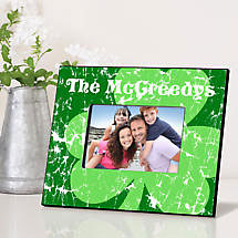 Personalized Irish Picture Frames - Jolly Green Shamrock