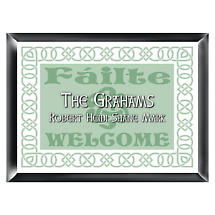 Personalized Irish Linen Family Sign