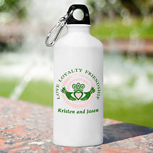 Personalized Irish Water Bottle - Claddagh
