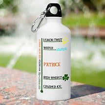 Personalized Irish Water Bottle - Irish Whiskey and Water