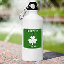 Personalized Irish Water Bottle - Property O