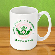 Personalized Irish Coffee Mug - Claddagh