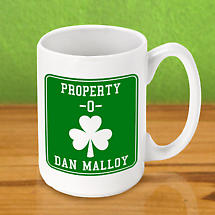 Personalized Irish Coffee Mug - Property O