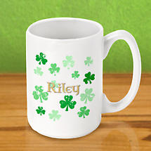 Personalized Irish Coffee Mug - Raining Shamrock