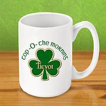 Personalized Irish Coffee Mug - Top O The Morning
