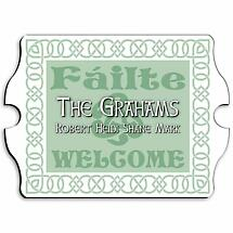 Personalized Vintage Irish Linen Family Sign