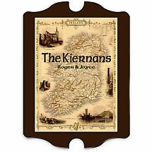 Personalized Vintage Irish Map Family Sign