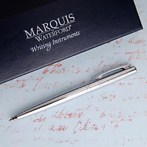 Personalized Waterford® Ardmore Ballpoint Pens - Chrome & Silver