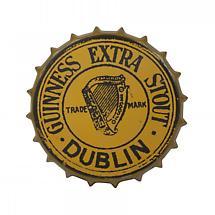 Guinness Gold Vintage Metal Bottle Cap Sign