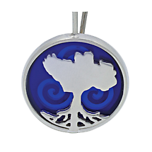 Irish Necklace - Sterling Silver Growing Home Pendant - Blue Ocean