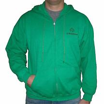 Personalized Kelly Green Full Zip Hooded Sweatshirt