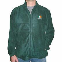 Personalized Hunter Green Full Zip Fleece Jacket