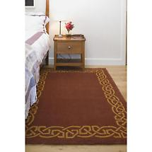 "Celtic Rug - ""Eternity"" Wool Rug - Rustic"