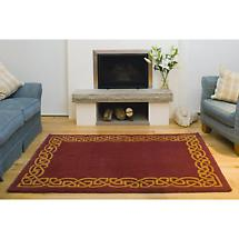 "Celtic Rug - ""Eternity"" Wool Rug - Wine"