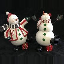 Irish Christmas - Irish Dancing Snowmen Figurines