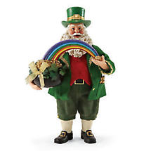 "Irish Christmas - 10.5"" Leprechaun Loot Santa Figurine"