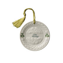 Irish Christmas - Belleek Celtic Blessing Ornament