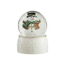 Irish Christmas - Belleek Snowman Snowglobe