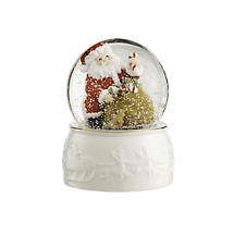 Irish Christmas - Belleek Santa Snowglobe