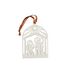Irish Christmas - Belleek Nativity Flat Ornament