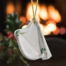 Irish Christmas - Belleek Harp Ornament