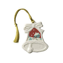 Irish Christmas - Belleek Christmas Scene Bell Ornament