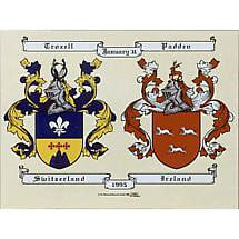 Personalized Irish Double Coat of Arms - Unframed
