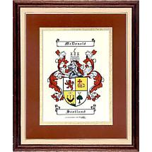 Personalized Irish Coat of Arms Scroll - Framed