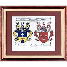 Personalized Irish Double Coat of Arms - Framed