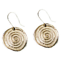 Celtic Earrings - Handcrafted Sterling Silver Celtic Spirals Irish Earrings