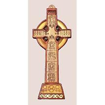 Irish High Cross Celtic Wood Carving