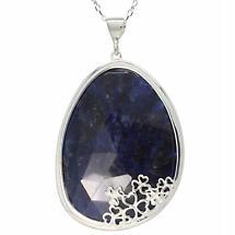 Shamrock Pendant - Blue Sodalite