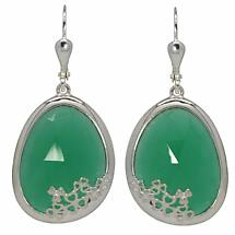 Shamrock Earrings - Green Onyx