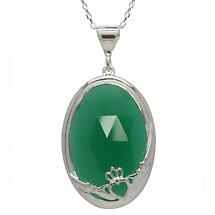 Claddagh Pendant - Green Onyx