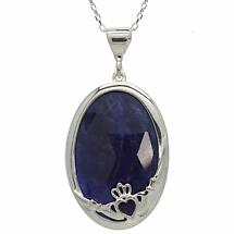 Claddagh Pendant - Blue Sodalite
