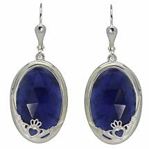 Claddagh Earrings - Blue Sodalite