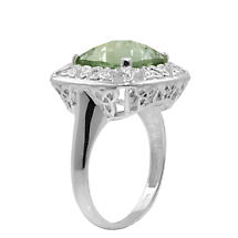 Trinity Knot Ring - Green Amethyst Filigree Trinity Knot Ring