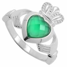 Claddagh Ring with Green Onyx