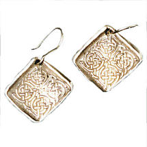 Celtic Earrings - Handcrafted Sterling Silver Celtic Knot Irish Earrings